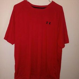 Under Armour Shirt Sz XL Heat Gear Red